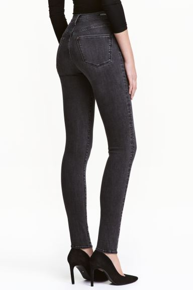 Shaping Skinny High Jeans - Dark grey denim - Ladies | H&M GB