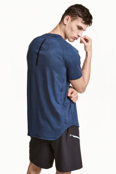 Sports top Loose Fit - Dark blue marl - Men | H&M