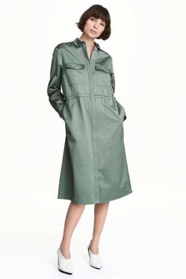 Shirt dress - Green - Ladies | H&M GB