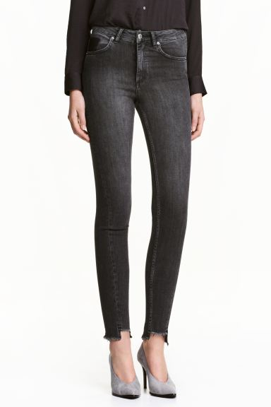 Slim High Twisted Jeans - Black denim - Ladies | H&M GB