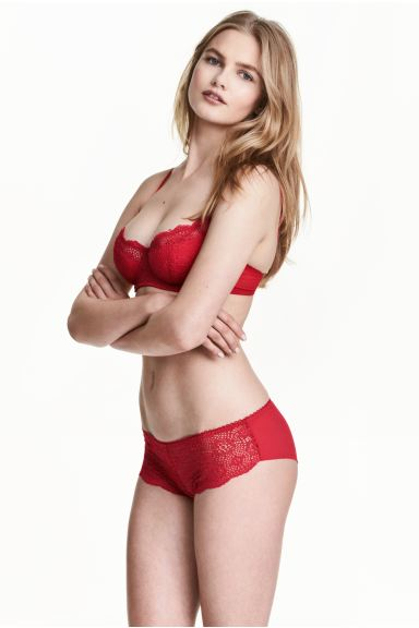 Lace hipster briefs - Red - Ladies | H&M GB