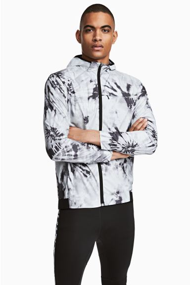 Running jacket - White/Patterned - Men | H&M