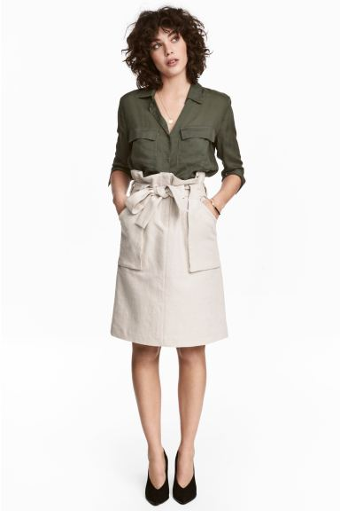 Cargo skirt - Light beige - Ladies | H&M CA