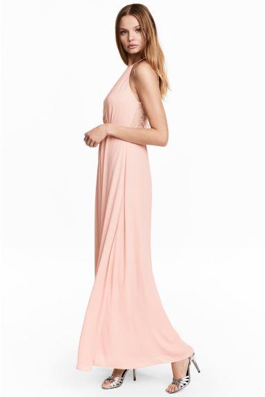 Beste Maxi-jurk met kant - Poederroze - DAMES | H&M NL WD-99