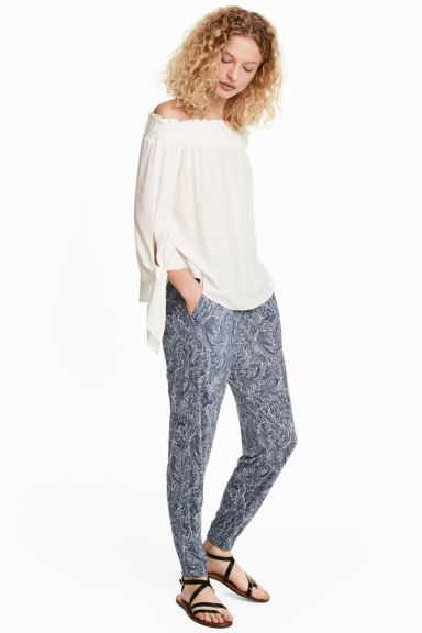Harem trousers - White/Paisley - Ladies | H&M GB