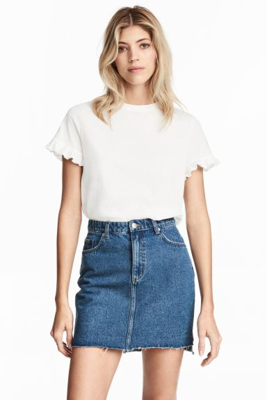 Denim skirt - Denim blue - Ladies | H&M CA