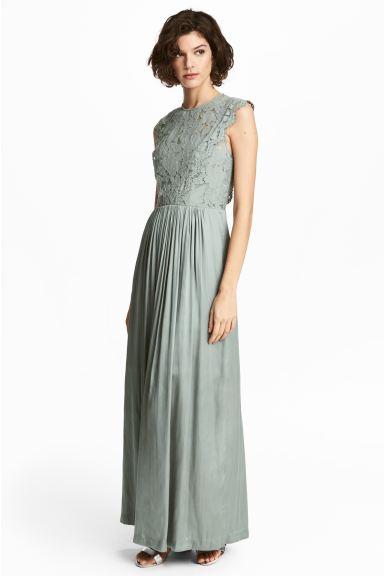 Verrassend Maxi-jurk - Nevelgroen - DAMES | H&M NL DA-43