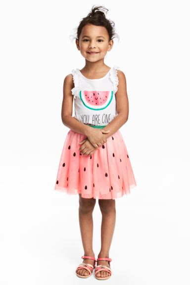 Tulle skirt - Pink/Watermelon - Kids | H&M GB