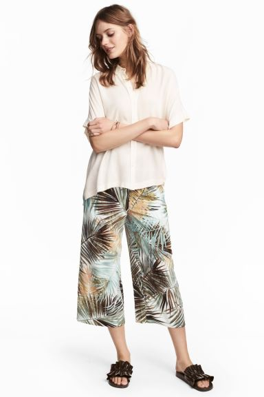 Culottes - White/Leaf - Ladies | H&M GB