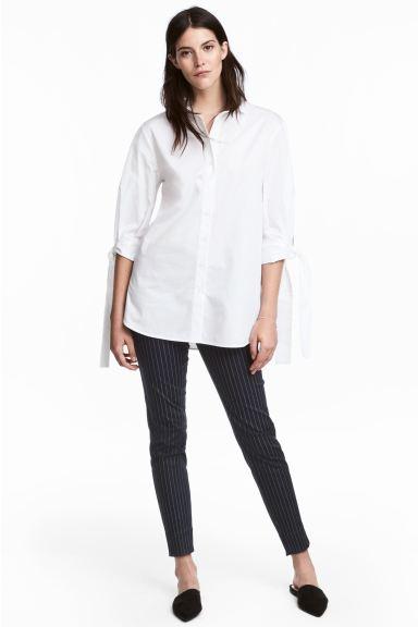Verwonderend Dressed broek - Donkerblauw/krijtstreep - DAMES | H&M NL NM-43