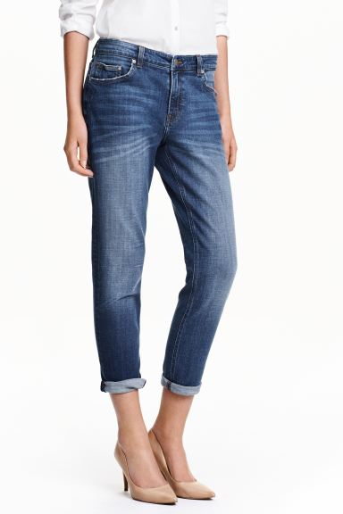 Girlfriend Jeans - Denim blue - Ladies | H&M GB