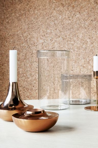 Metal candlestick - Copper - Home All | H&M IE