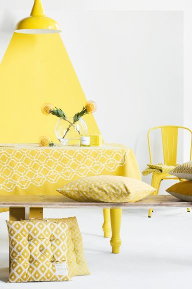 Patterned cushion cover - Yellow - Home All | H&M IE