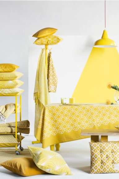 Herringbone-patterned blanket - Yellow - Home All | H&M GB