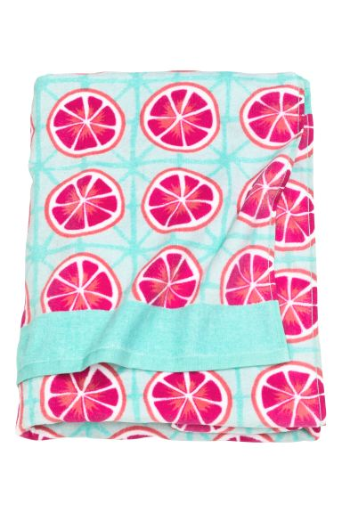Patterned beach towel - Turquoise/Grapefruits - Home All | H&M GB