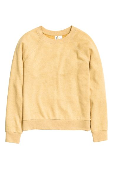 Sweatshirt - Mustard yellow - Ladies | H&M GB