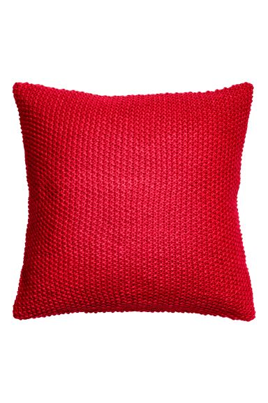 Moss-knit cushion cover - Red - Home All | H&M GB
