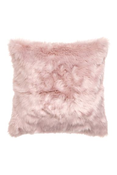 Faux fur cushion cover - Light pink - Home All | H&M GB