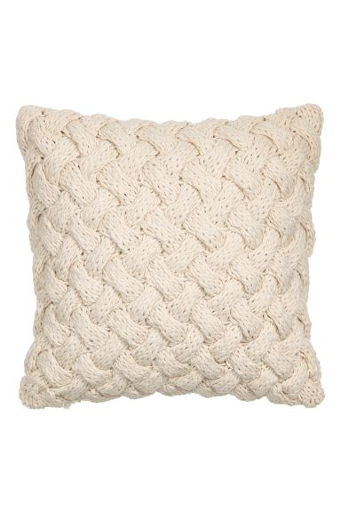 Cable-knit cushion cover - Natural white - Home All | H&M GB