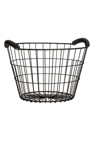 Small wire basket - Black - Home All | H&M GB