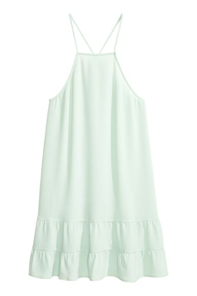 Tiered crêpe dress - Light mint green - Ladies | H&M GB