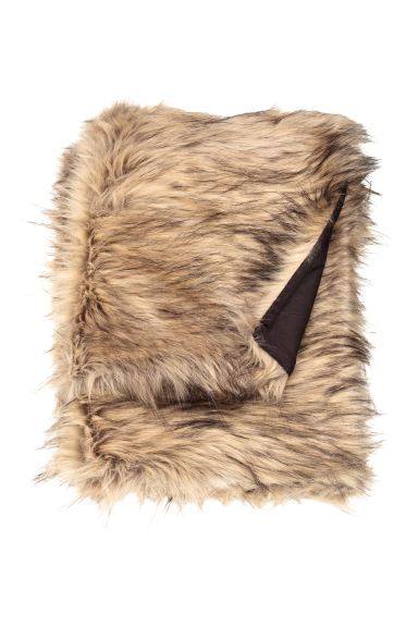 Faux fur blanket - Light brown - Home All | H&M CA