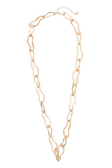 Long necklace - Gold - Ladies | H&M GB