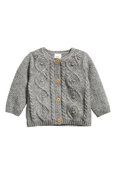 Cable-knit cardigan - Grey marl - Kids | H&M GB