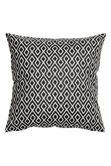 Housse de coussin à motif - Blanc/gris anthracite - Home All | H&M FR