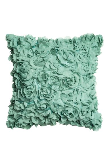 Cushion cover with flowers - Turquoise - Home All | H&M GB