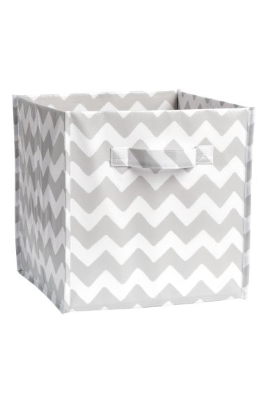 Storage box - Light grey/Zigzag - Home All | H&M GB