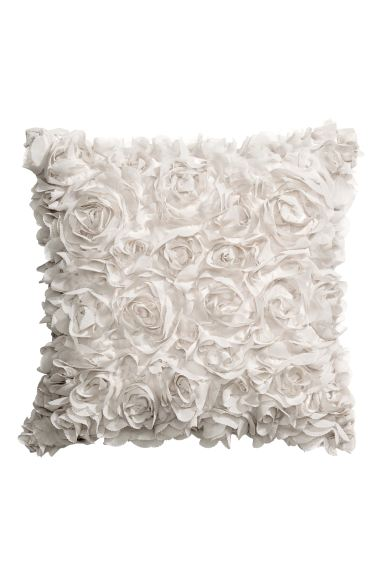 Cushion cover with flowers - Light beige - Home All | H&M GB