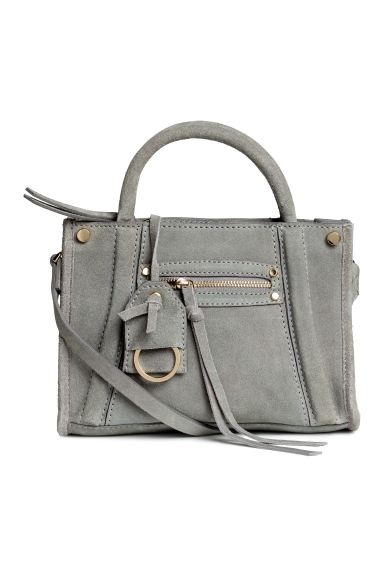 Suede shoulder bag - Grey - Ladies | H&M GB
