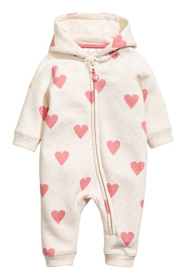 Sweatshirt all-in-one suit - Natural white/Heart - Kids | H&M GB