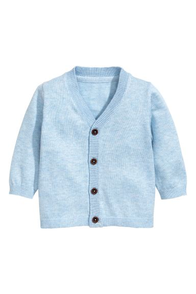 Fine-knit cardigan - Light blue marl - Kids | H&M GB