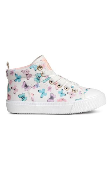 Hi-top trainers - White/Butterflies - Kids | H&M GB