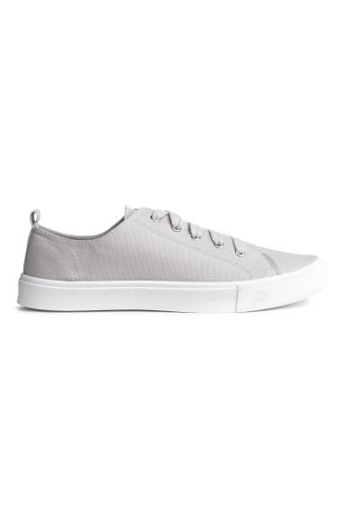 Canvas Sneakers - Light grey - Ladies | H&M CA