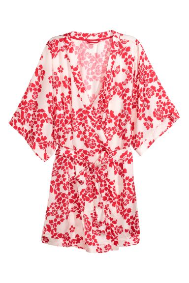 Patterned kimono - Red/Floral - Ladies | H&M GB
