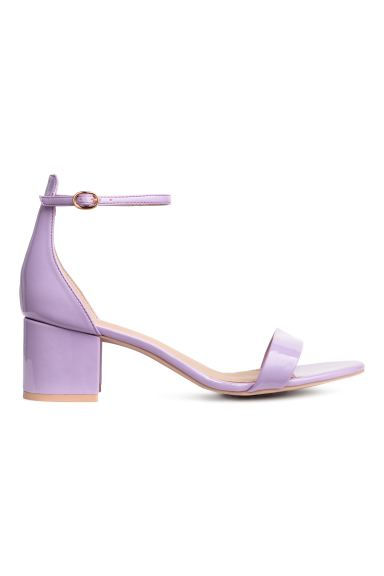 Ankle-strap sandals - Lilac - Ladies | H&M CA