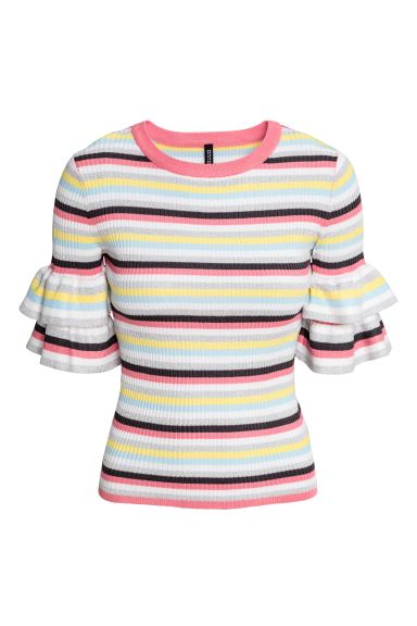 Knitted top - Multicoloured/Striped - Ladies | H&M GB