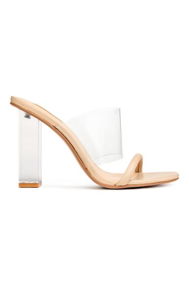 Mules - Transparent - Ladies | H&M CA