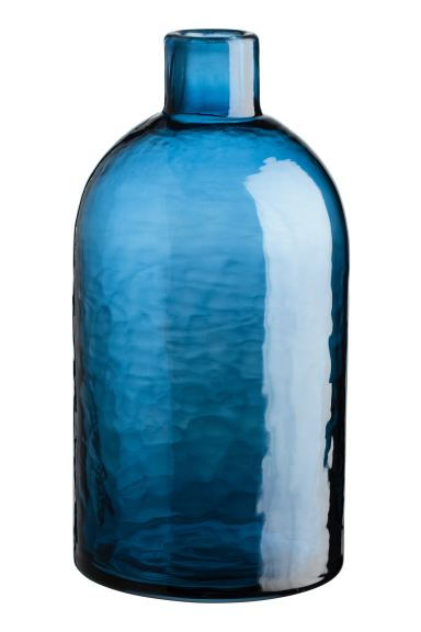 Grand vase en verre - Bleu - Home All | H&M CA