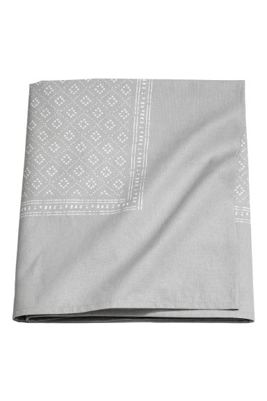 Nappe en coton à motif - Gris clair - Home All | H&M CA