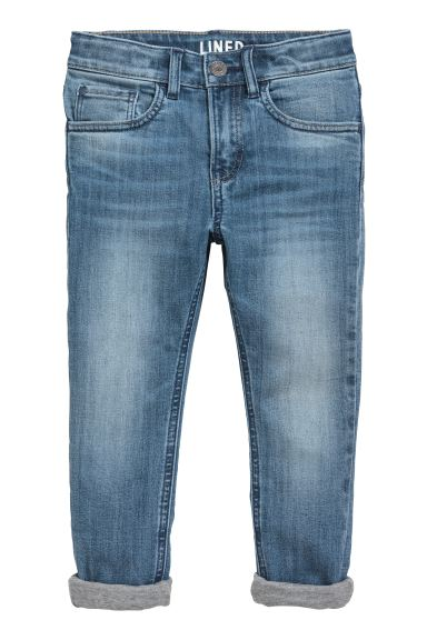 Skinny Fit Lined Jeans - Blau - KINDER | H&M CH