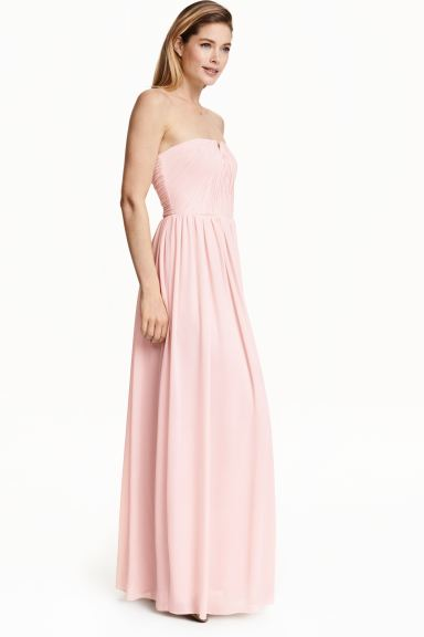 Pleated maxi dress - Powder pink - Ladies | H&M GB
