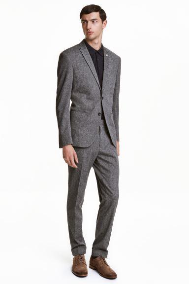Vestiti Eleganti Hm Uomo.Pantaloni Eleganti Slim Fit Nero Bianco Melange Uomo H M Ch