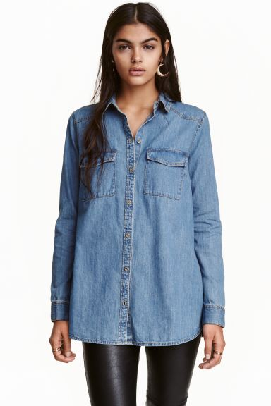 Denim shirt - Denim blue - Ladies | H&M GB
