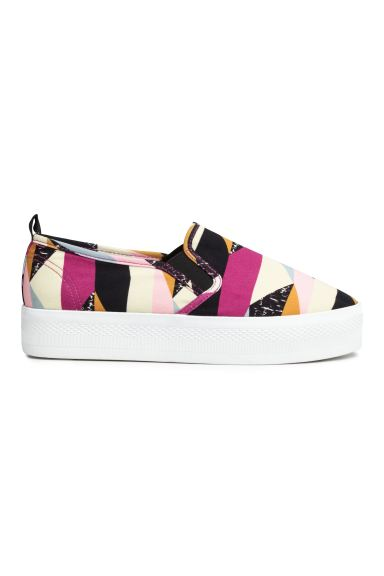 Platform trainers - Dark pink/Patterned - Ladies | H&M GB