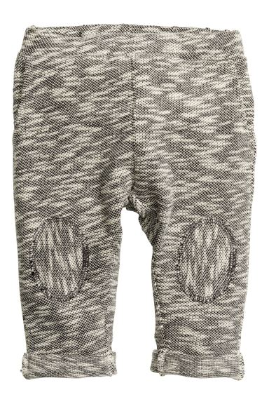 Trousers in a textured knit - Dark grey marl - Kids | H&M GB