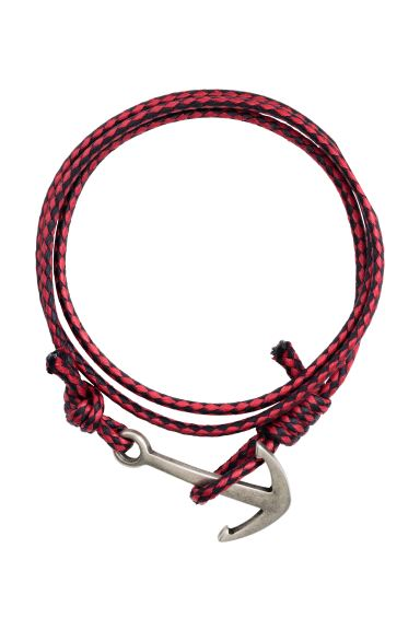 Braided bracelet - Red - Men | H&M GB